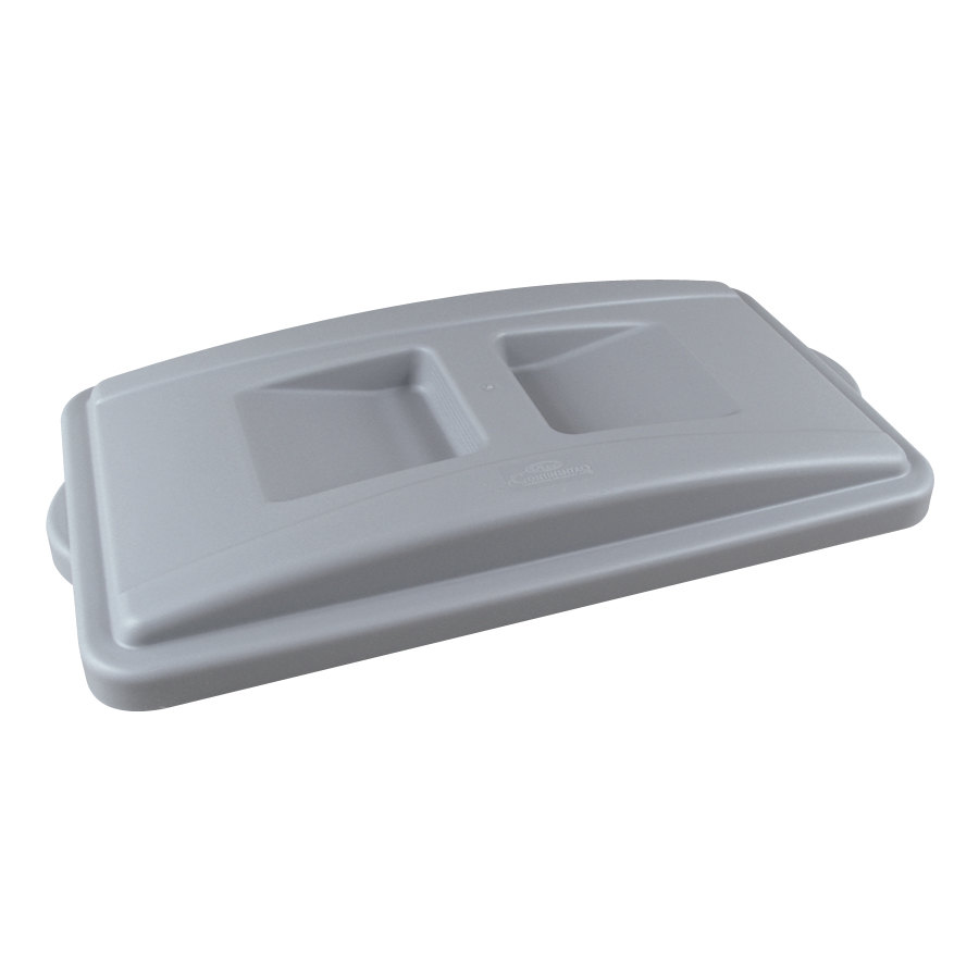 Continental 7315GY Wall Hugger Gray Recycle Lid with Handles at Sears.com