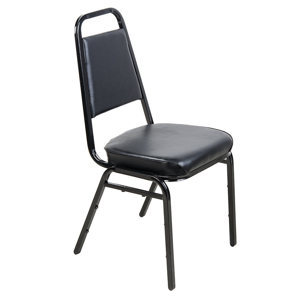 Black Stackable Chair with 2 inch Padded Seat