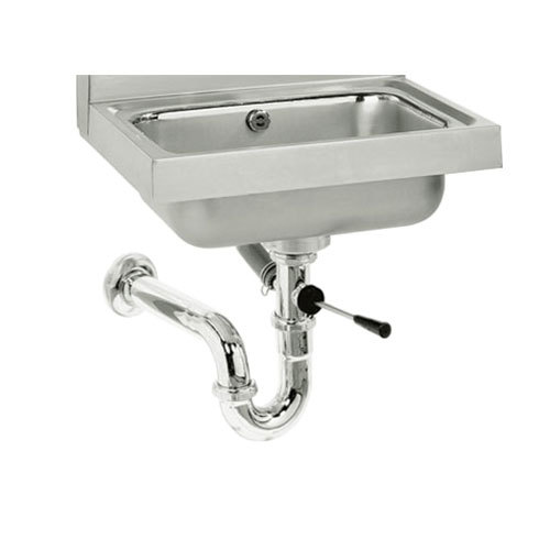 "Advance Tabco K-26 Lever Handle Waste Valve with Overflow Assembly for Hand Sinks - 3 1/2"" Sink Opening"