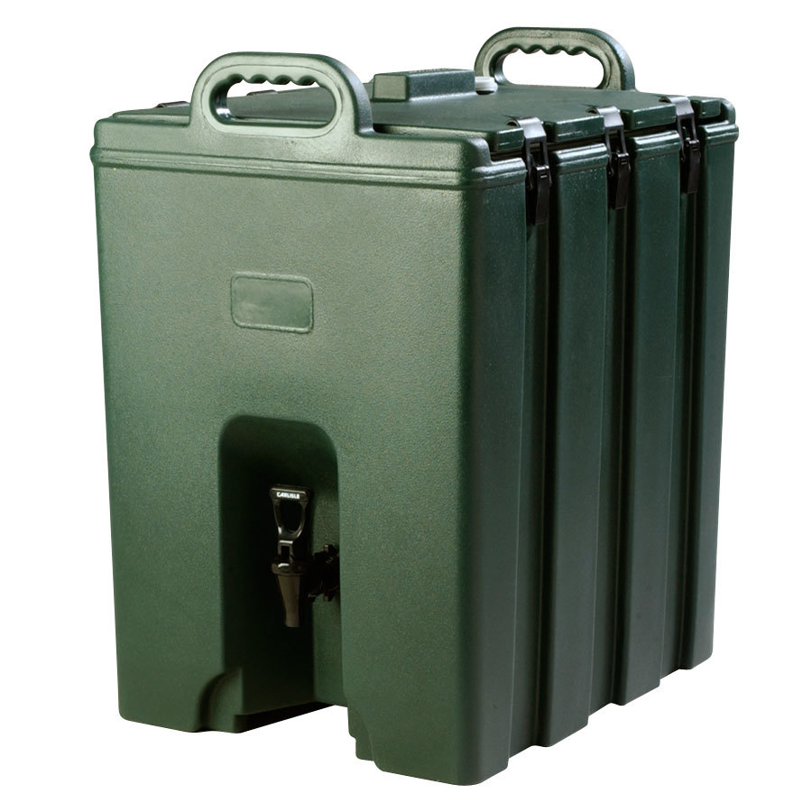 Carlisle LD1000N08 Cateraide Forest Green 10 Gallon Insulated Beverage Dispenser