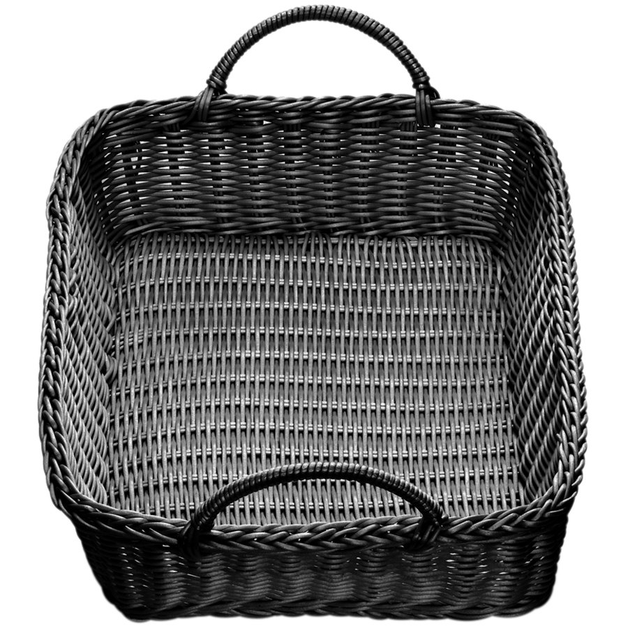 White wicker baskets with handle - Main Picture