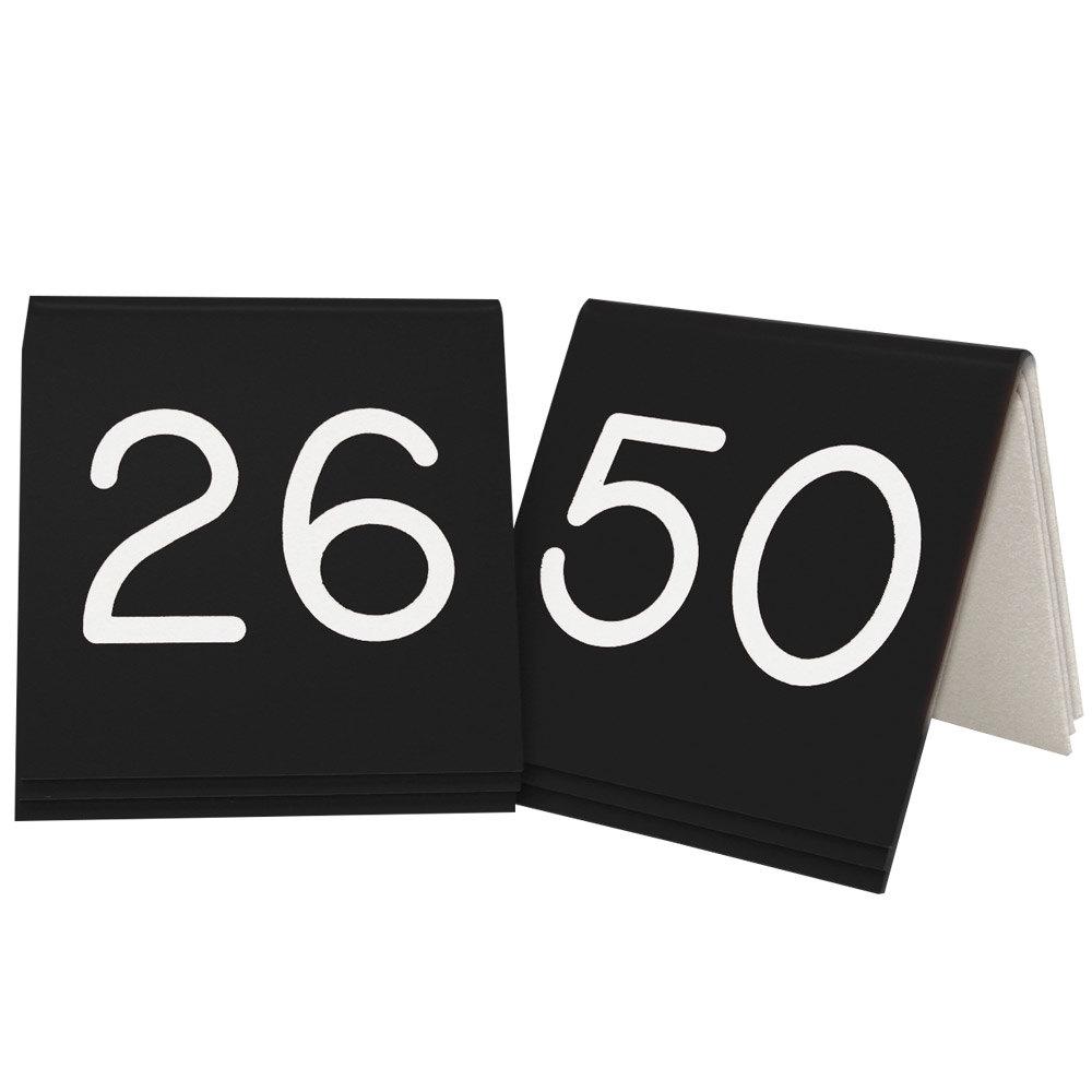 Main Picture  sc 1 st  WebstaurantStore & Cal-Mil 269B-2 Black Engraved Number Tent Sign Set 26-50 - 3