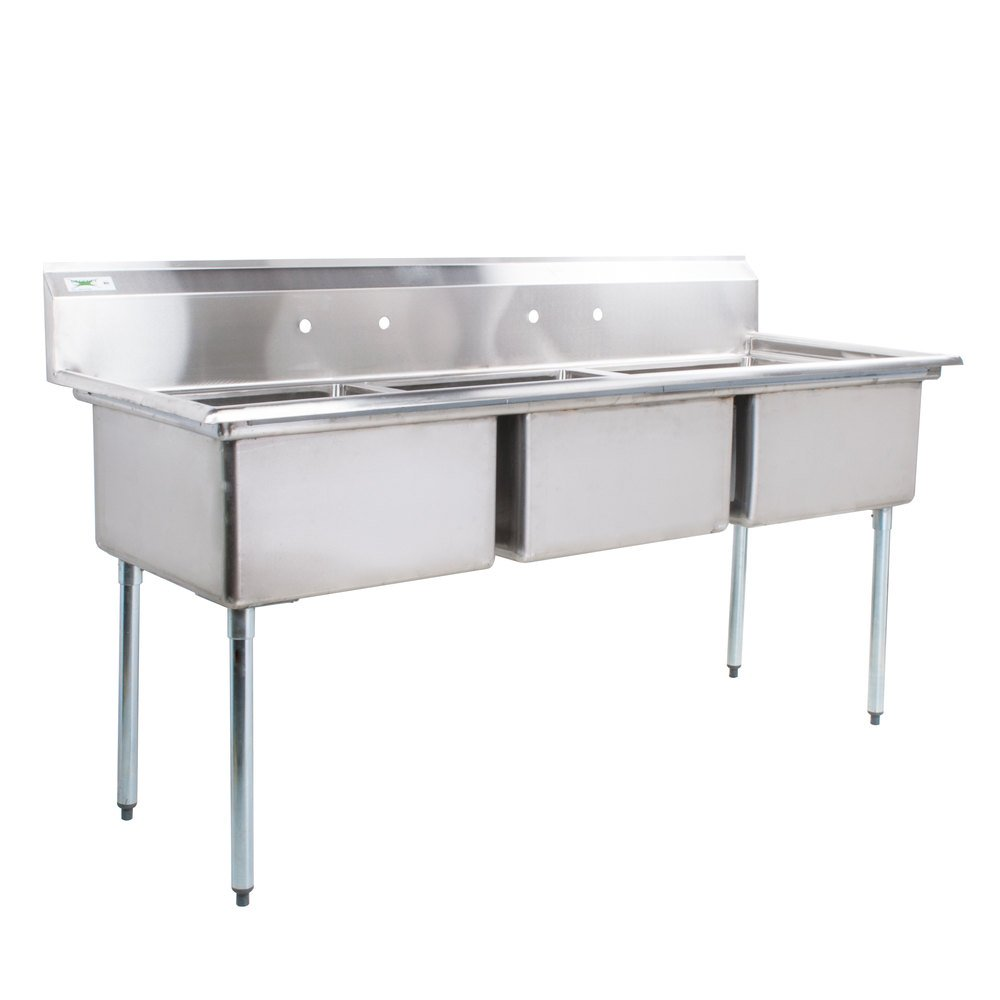 Commercial Sinks Australia : ... Compartment Commercial Sink without Drainboard - 23