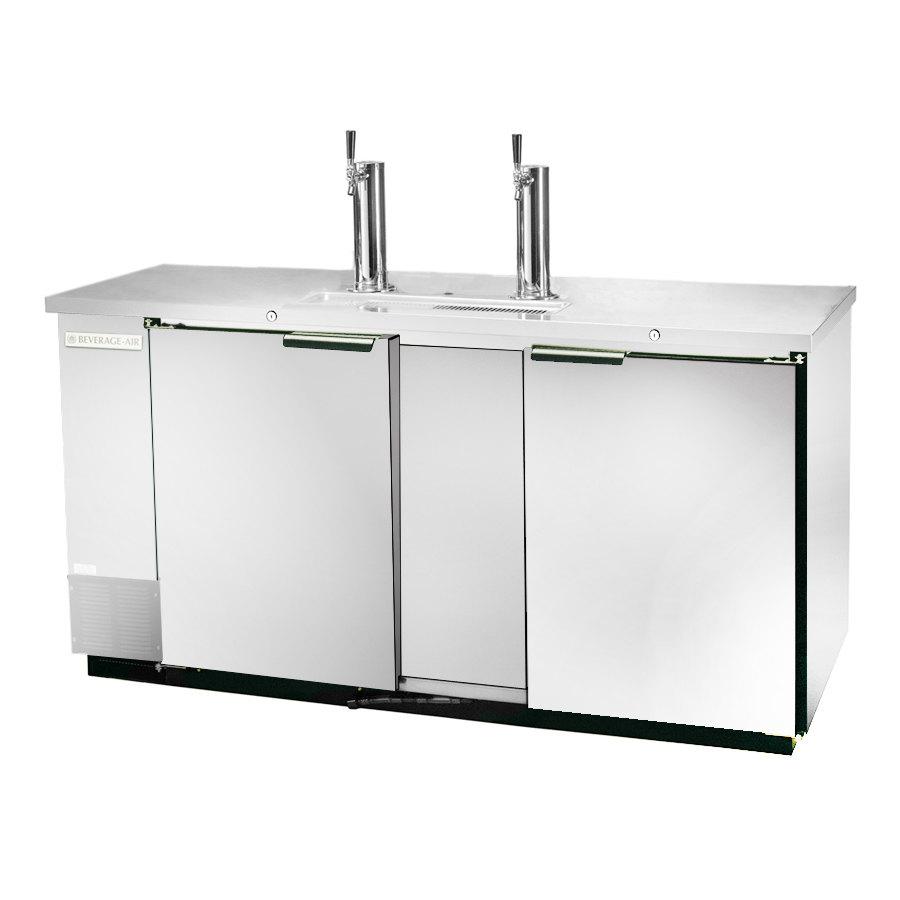 "Beverage Air (Bev Air) DD68-1-S Stainless Steel Finish Front Beer Dispenser 69"" - 3 Keg Kegerator at Sears.com"