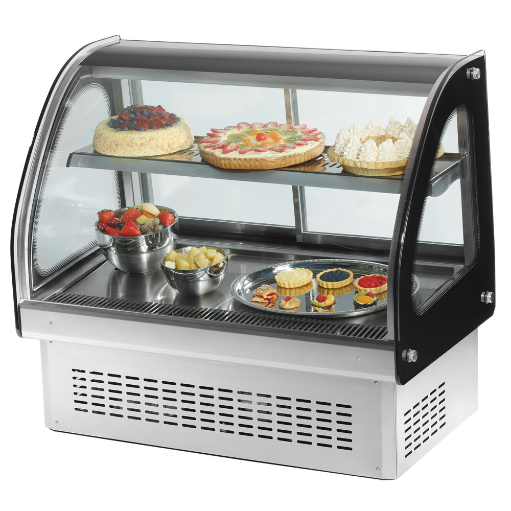 "Vollrath 40843 48"" Curved Glass Drop In Refrigerated Countertop Display Cabinet"