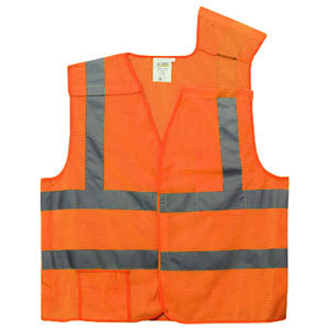 Orange Class 2 High Visibility 5 Point Breakaway Safety Vest - XL