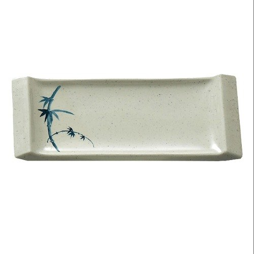 Blue Bamboo Melamine Vegetable Serving Plate – 8 1/2 inch x 3 3/4 inch 12 / Pack