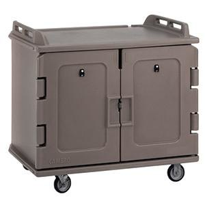 Cambro MDC1418S20194 Granite Sand Meal Delivery Cart 20 Tray