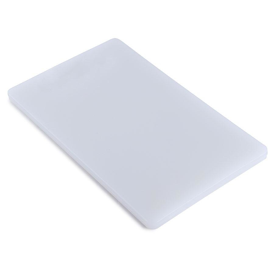 15 inch x 20 inch x 1/2 inch Poly White Cutting Board