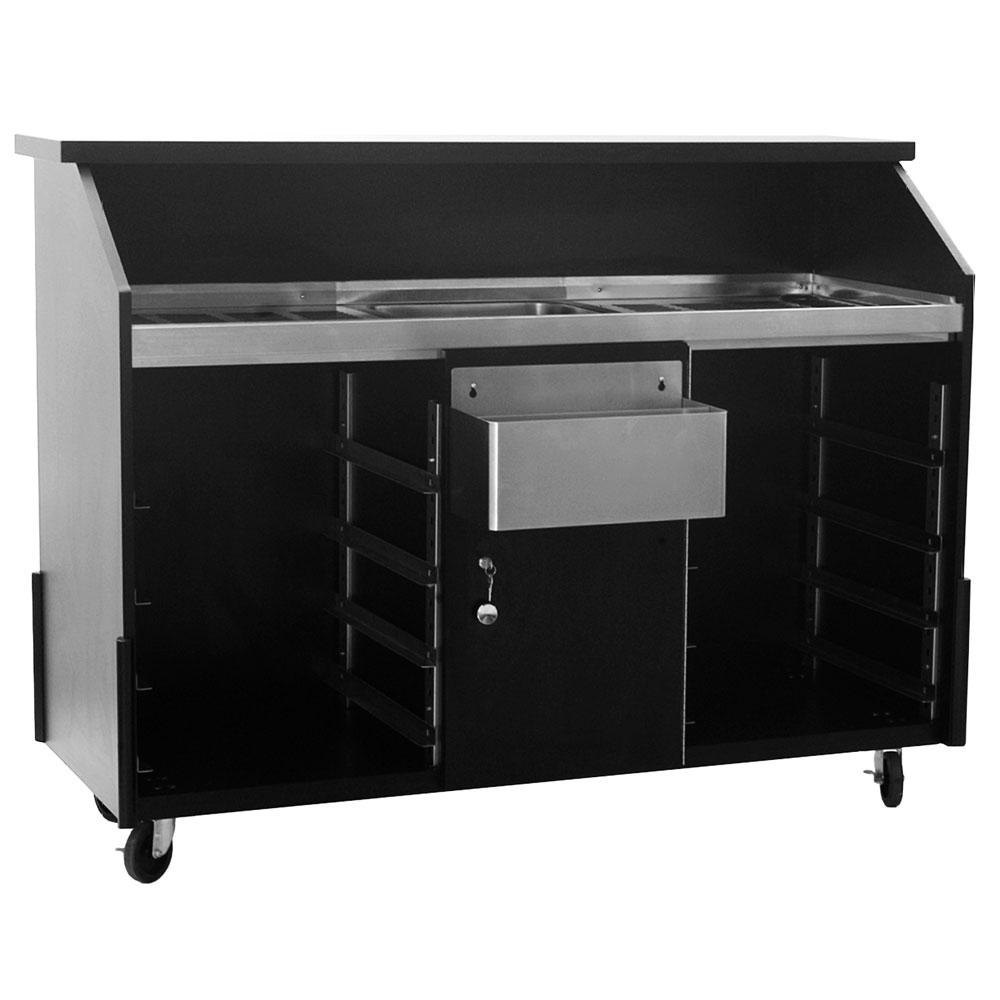 Eagle Group DPB-5R Deluxe Portable Bar with Locking Right Cabinet and Two Speed Rails