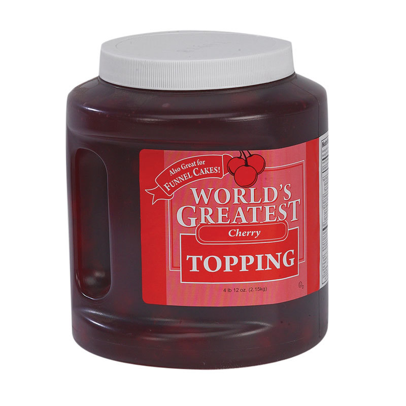 "Gold Medal 5138 ""World's Greatest"" Cherry Ice Cream Topping 3 - 76 oz. Jars / Case"
