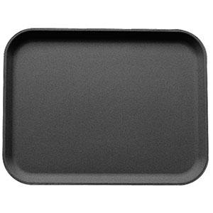 Cambro 1826CT110 Customizable Black 18 inch x 26 inch Camtread Non-Skid Serving Tray 6 / Case