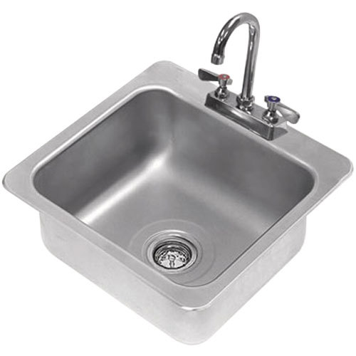 Stainless Steel Utility Sink Drop In : ... Tabco DI-1-168 Drop In Stainless Steel Sink - 16
