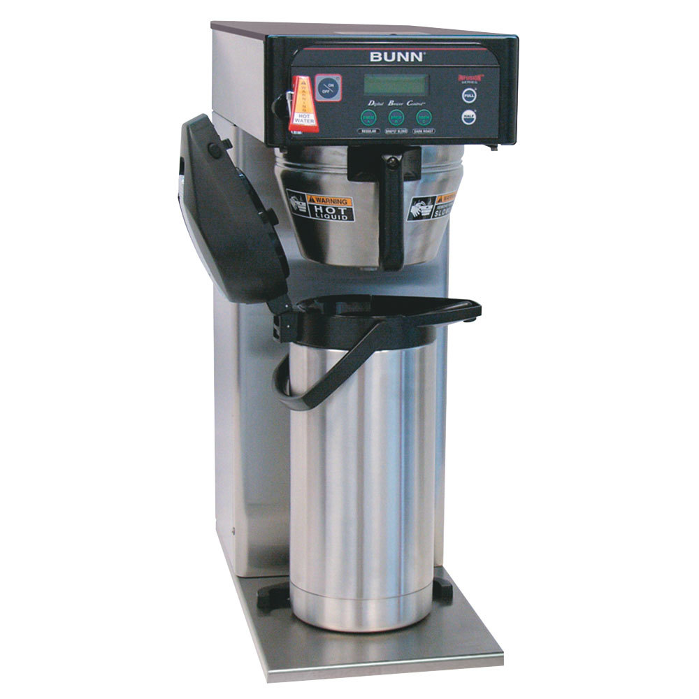 Bunn 36600.0005 BrewWISE ICB-DV Stainless Steel Infusion Tall Coffee Brewer with Lower Side Faucet - Dual Voltage
