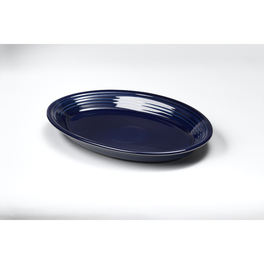Homer Laughlin 458105 Fiesta Cobalt Blue 13 5/8 inch Platter - 12 / Case
