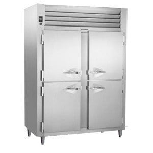 Traulsen RHT232NPUT-HHS Stainless Steel 48.3 Cu. Ft. Two Section Solid Half Door Narrow Pass-Through Refrigerator - Specification Line