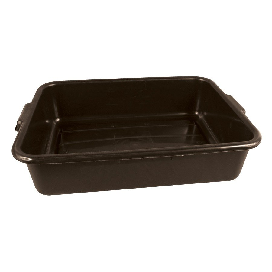 Tablecraft 1529BR 20 inch x 15 inch x 5 inch Brown Polyethylene Plastic Bus Tub, Bus Box
