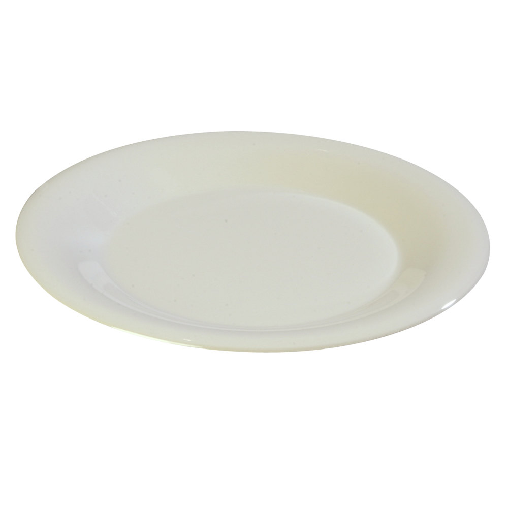 "Carlisle 33801242 9"" Bone Sierrus Wide Rim Dinner Plate - 24 / Case"