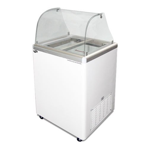 Excellence EDC-4C Ice Cream Freezer Dipping Cabinet with Curved Glass - 5 Cu. Ft. at Sears.com