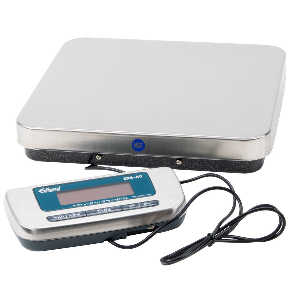 "Edlund ERS-60 60 lb. Digital Receiving Scale with 12"" x 12 1/2"" Platform"