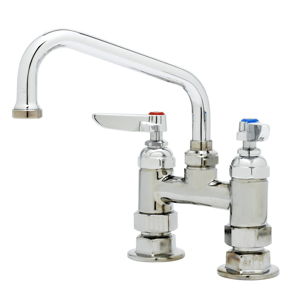 "T&S B-0228 Deck Mounted Pantry Faucet with 4"" Adjustable Centers, 6"" Swing Nozzle, and Eterna Cartridges"