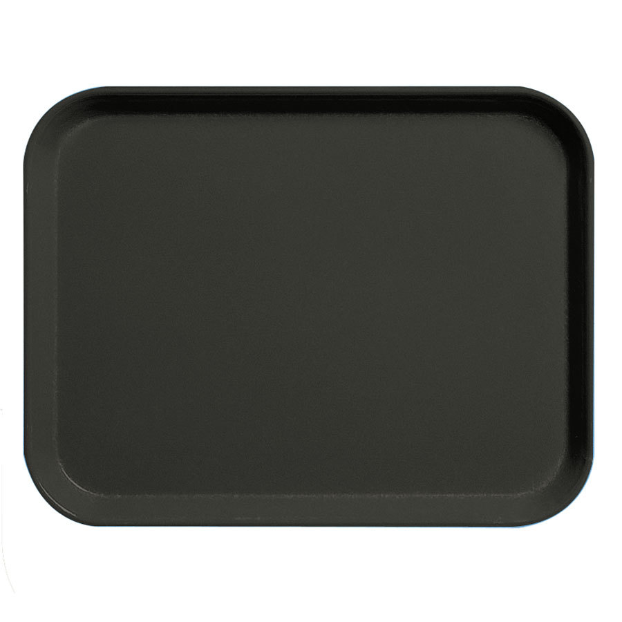 "Cambro 3253CL110 Black 13"" x 21"" Camlite Tray 12 / Case"