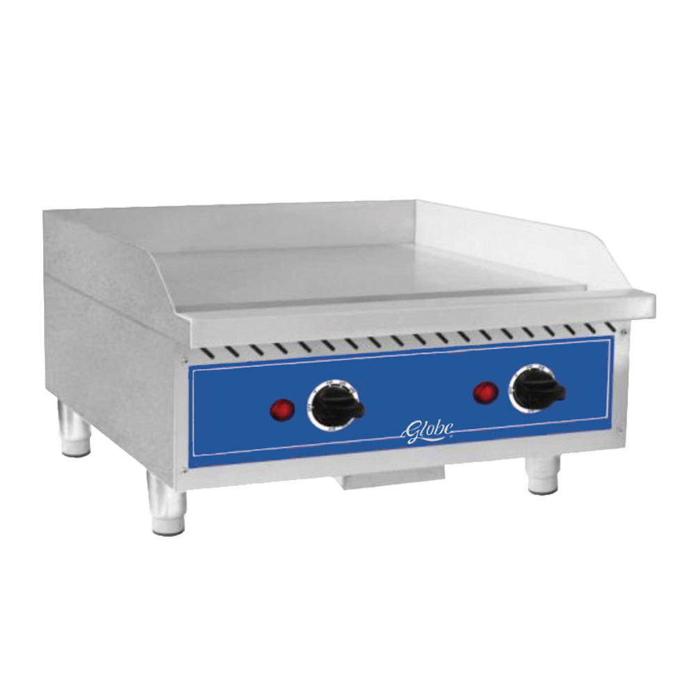 "Globe GEG24 24"" Electric Countertop Griddle - 5600W"