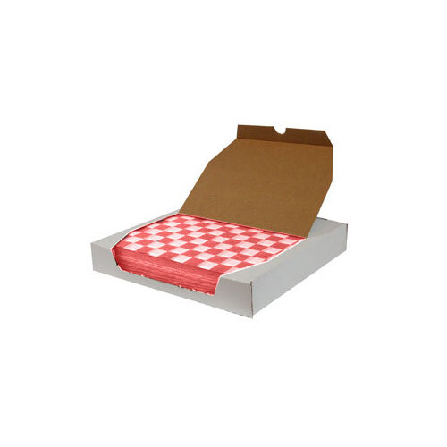 12 inch x 12 inch Choice Red Check Deli Sandwich Wrap Paper - 5000 / Case
