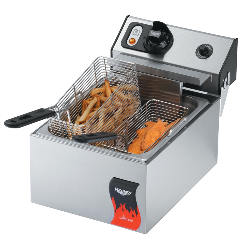 Vollrath 40706 10 lb. Commercial Countertop Deep Fryer 220V
