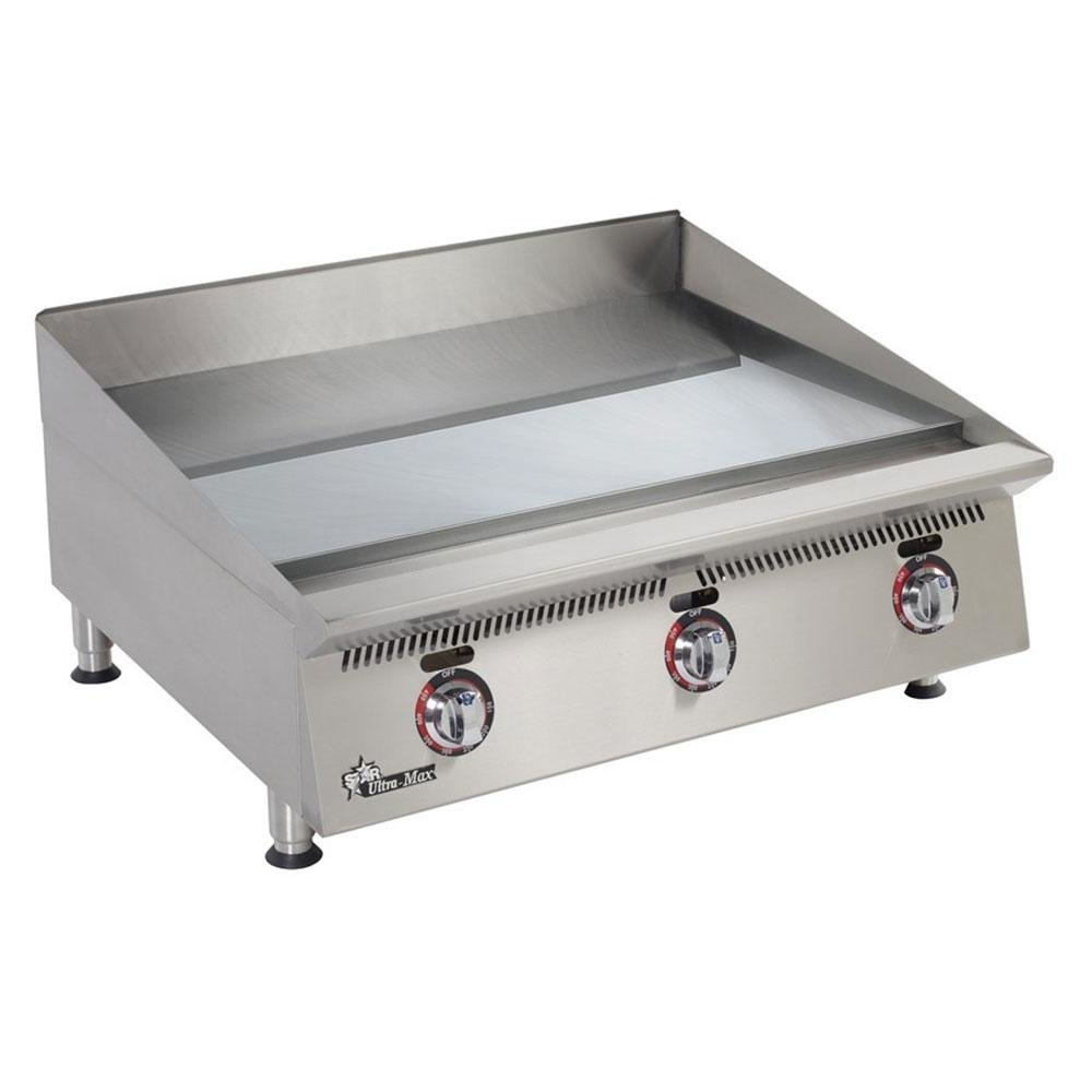 "Star 836TSCHSA Ultra Max 36"" Countertop Gas Griddle with Snap Action Thermostatic Controls and Chrome Plate - 120,000 BTU"