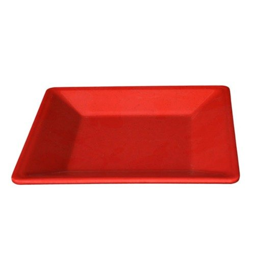 "4"" Passion Red Square Plate - 12/Pack"
