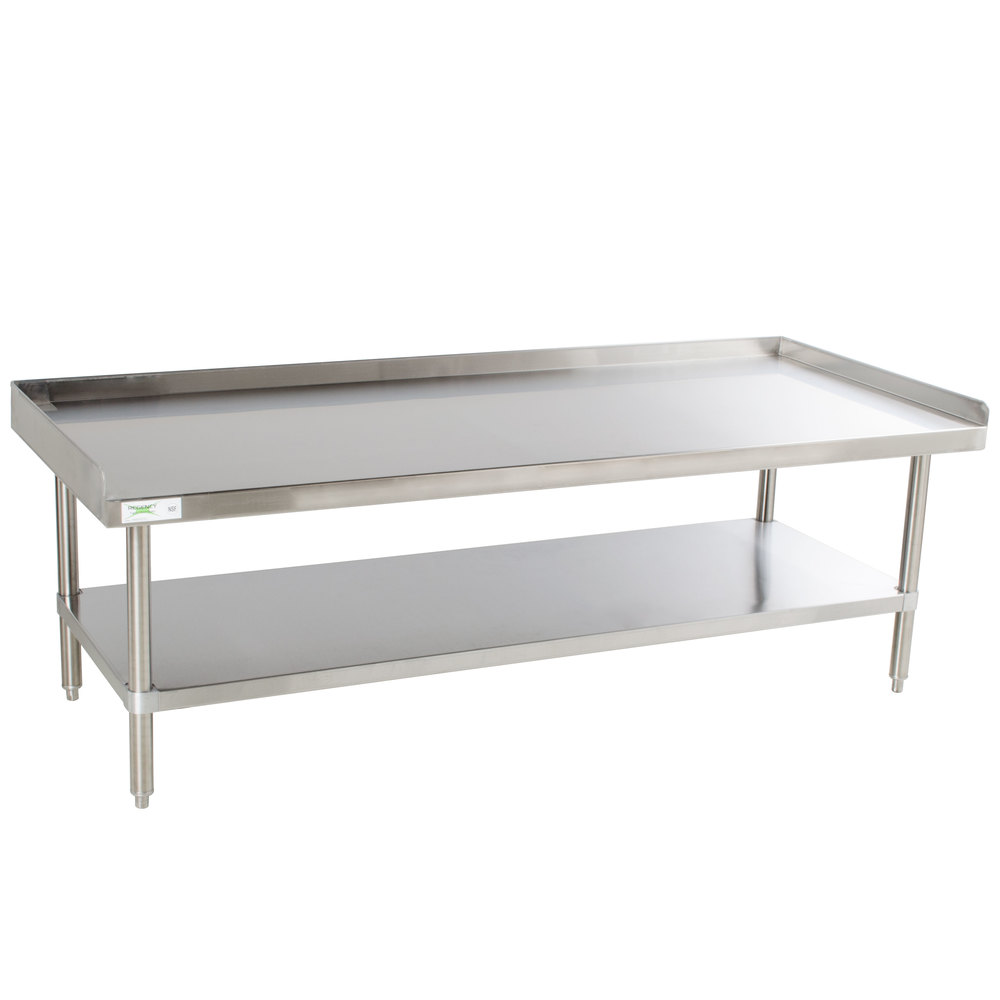 Regency 16 Gauge SES30S60-STS 30 inch x 60 inch All Stainless Steel Heavy Duty Equipment Stand with Undershelf