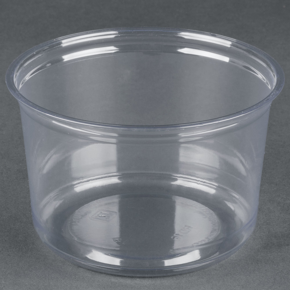 take out containers fabri kal alur rd16 16 oz recycled customizable clear pet 12074