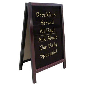 Write On Sidewalk Sign A Frame - 25 inch x 42 inch
