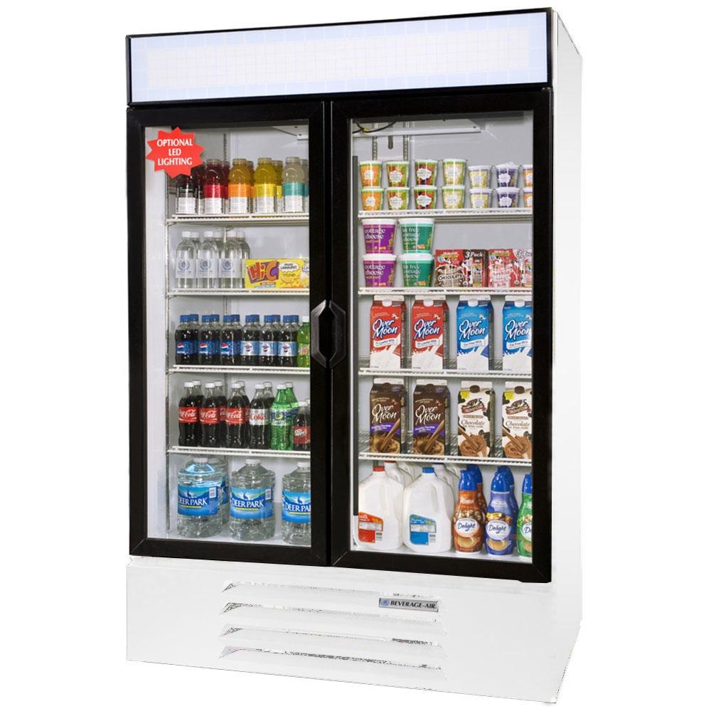 Beverage Air (Bev Air) LV49-1-W White LumaVue 52 inch Refrigerated Glass Door Merchandiser - 49 Cu. Ft.