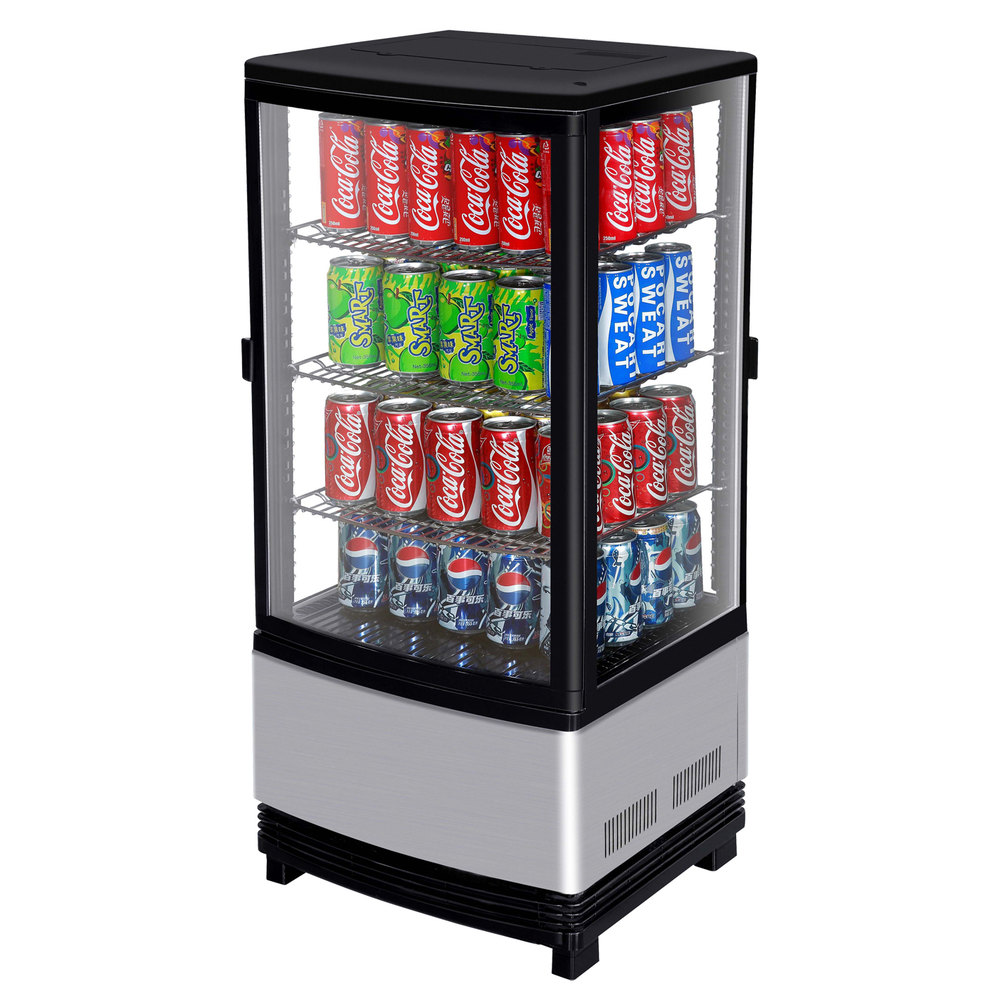 115 volts turbo air crt772r diamond swing passthrough countertop display with - Mini Fridge Glass Door