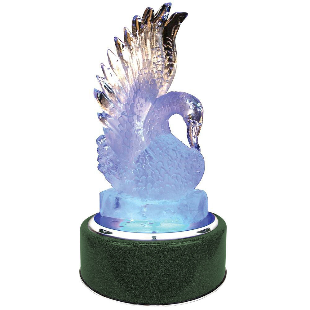 "Buffet Enhancements 1BLRSRTEM Chefstone 30"" Lighted Rotating Ice Display - Emerald Base"
