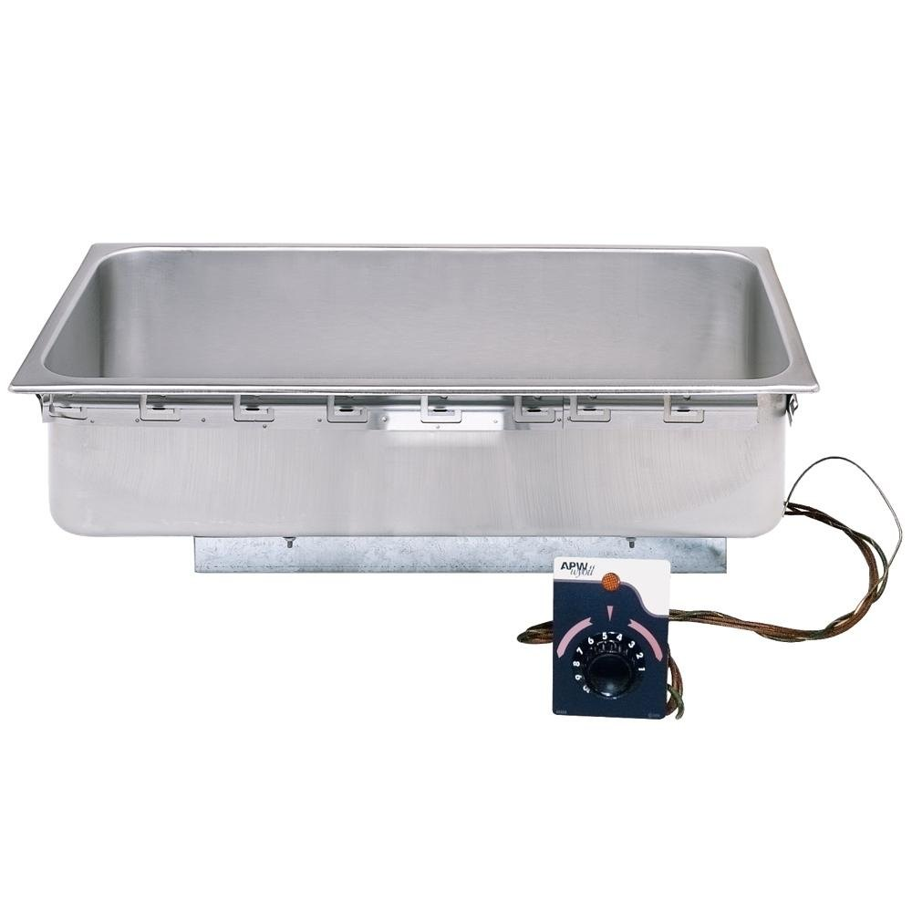APW Wyott TM-12L 1/2 Size Uninsulated One Pan Drop In Hot Food Well