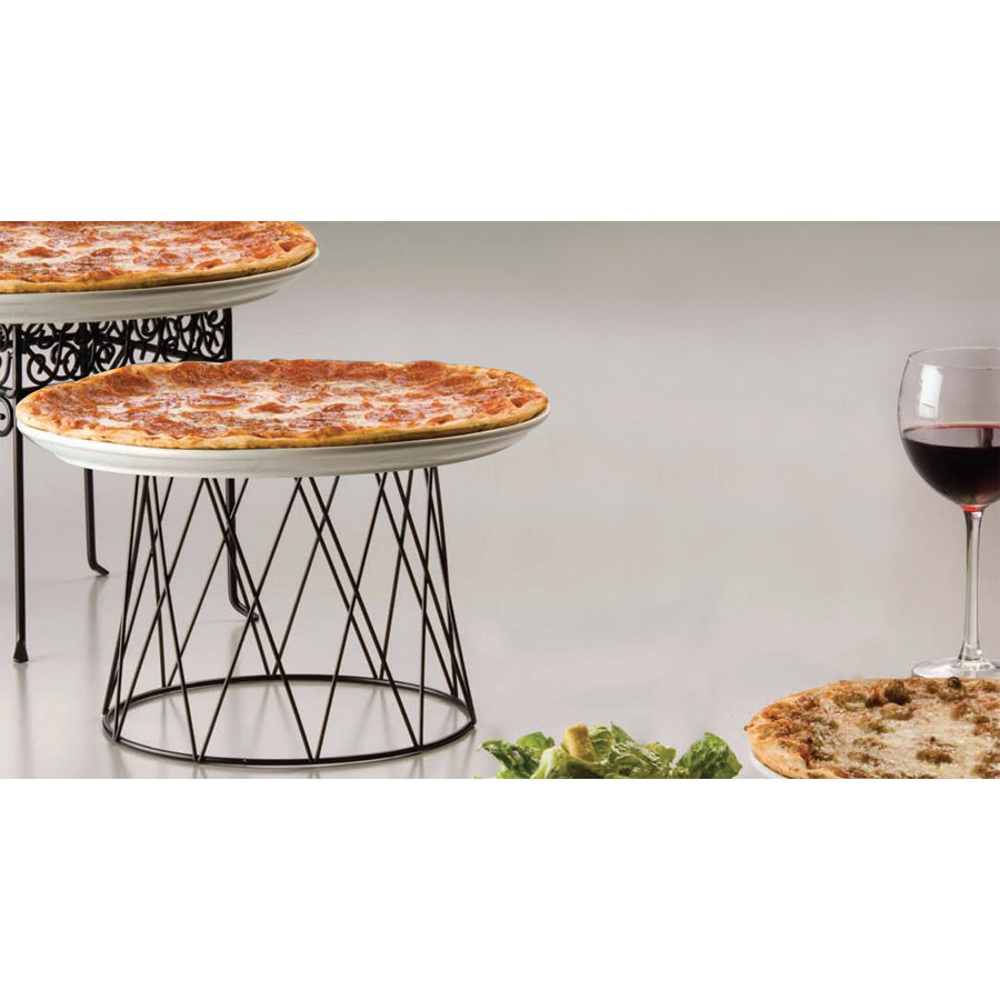 American Metalcraft Dps797 7 Quot Black Drum Pizza Stand