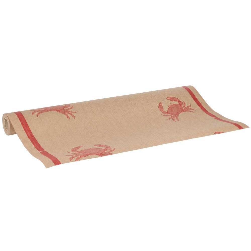 40 Quot X 100 Paper Table Cover With Crab Pattern