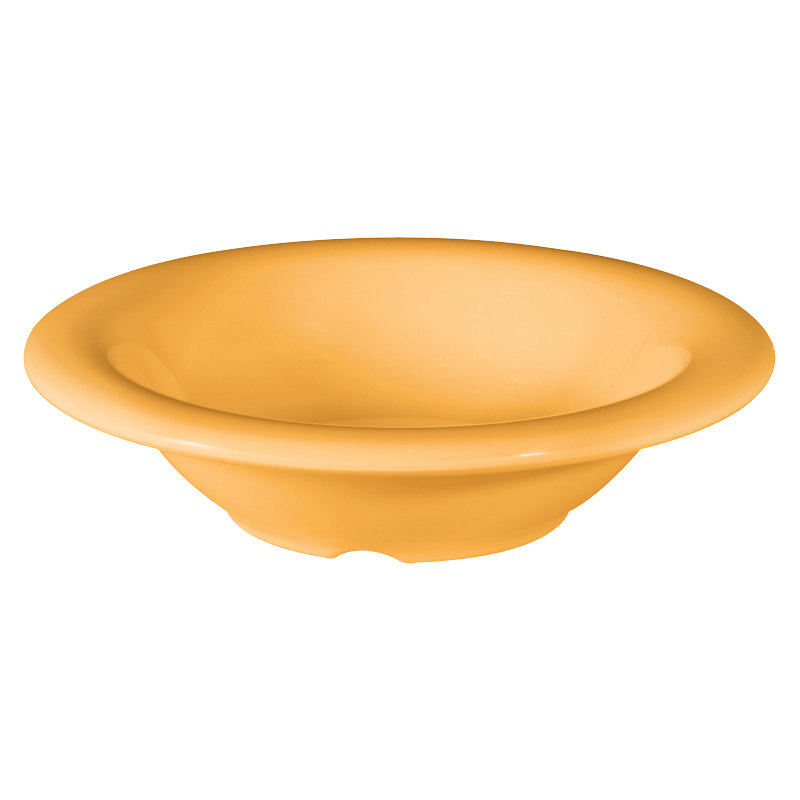GET B-86-TY Diamond Mardi Gras 8 oz. Tropical Yellow Melamine Bowl - 48/Case