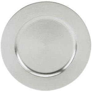 "Tabletop Classics TRS-6651 13"" Silver Round Acrylic Charger Plate"