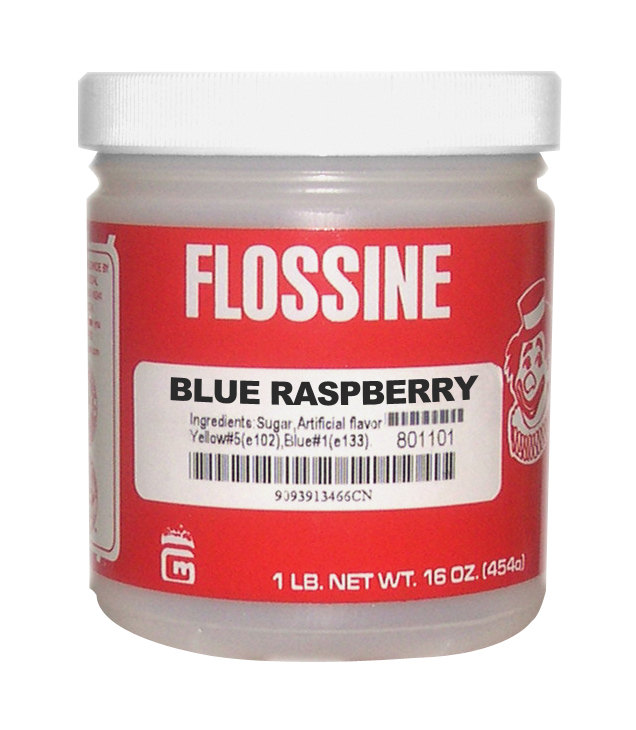 Gold Medal 3453 Blue Raspberry Flossine 12 - 1 lb. Jars / Case