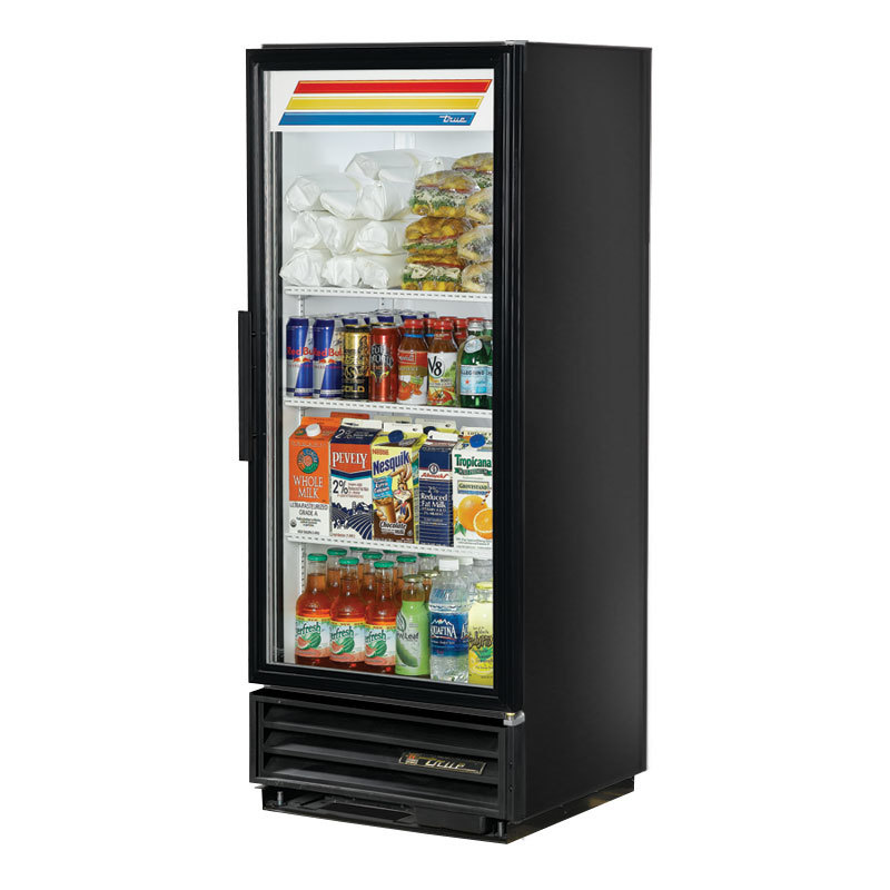 True GDM-12 Black Refrigerated Glass Door Merchandiser - 12 Cu. Ft.