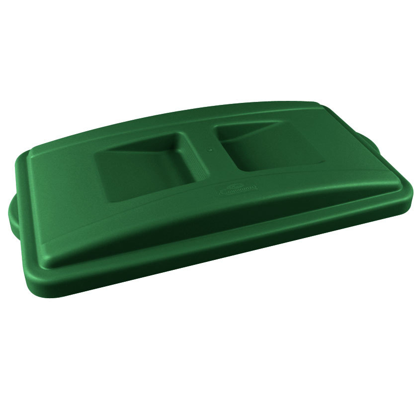 Continental 7315GN Wall Hugger Green Recycle Lid with Handles at Sears.com