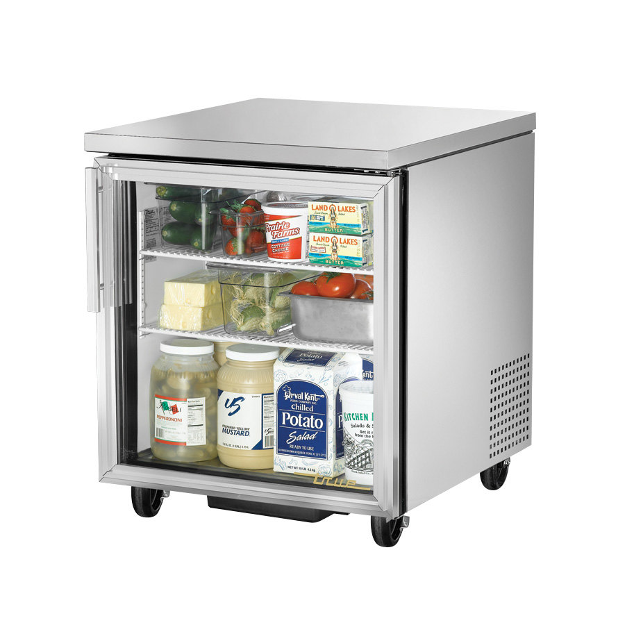 True TUC-27G 27 inch Glass Door Undercounter Refrigerator