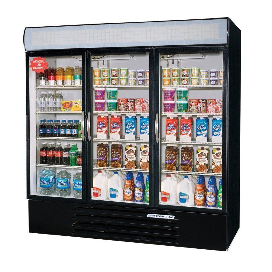 Beverage Air MMR72-1-B Black Marketmax Refrigerated 3 Glass Door Merchandiser - 72 Cu. Ft. at Sears.com