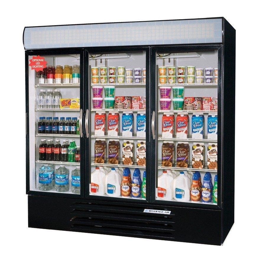 Beverage Air MMR72-1-B Black Marketmax Refrigerated 3 Glass Door Merchandiser - 72 Cu. Ft. at Sears.com