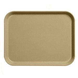"Cambro 1826CL161 Camlite 18"" x 26"" Tan Tray - 12/Case"