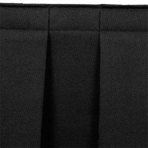 "National Public Seating SB8-96 Black Box Stage Skirt for 8"" Stage - 96"" Long"
